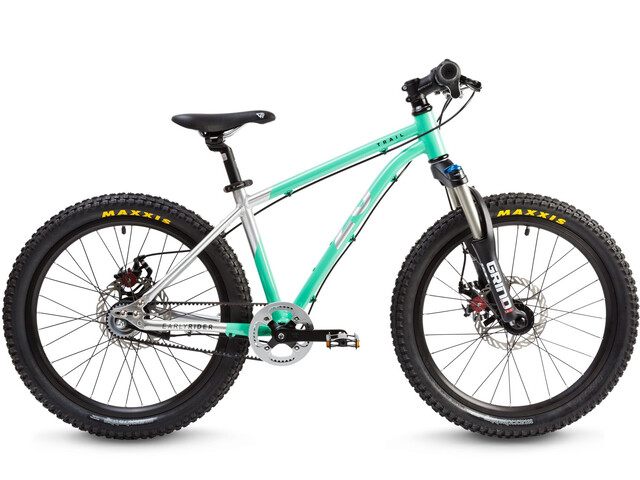 "Early Rider Hellion Trail MTB Hardtail 20"" Kids, brushed aluminum/cyan"